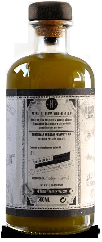 Heroina - botella de aceite virgen extra variedad hojiblanca